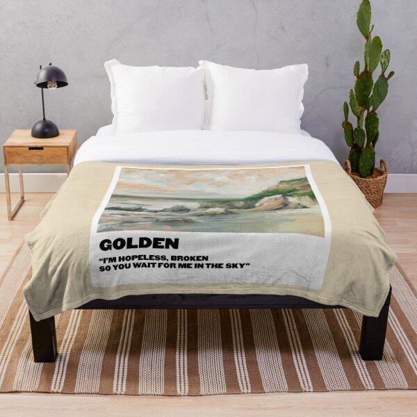 golden polaroid Throw Blanket