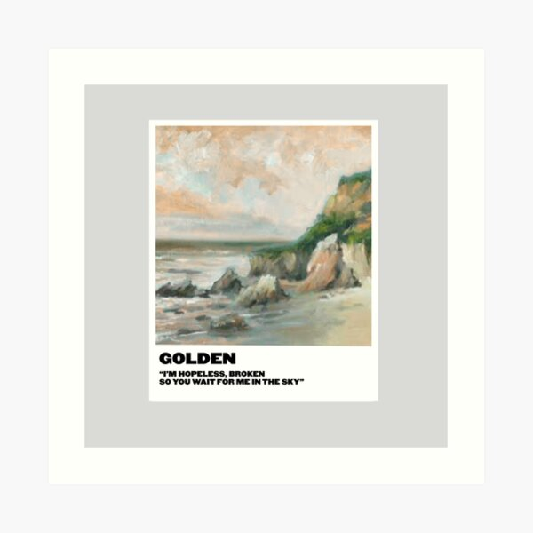 polaroid dorada Lámina artística