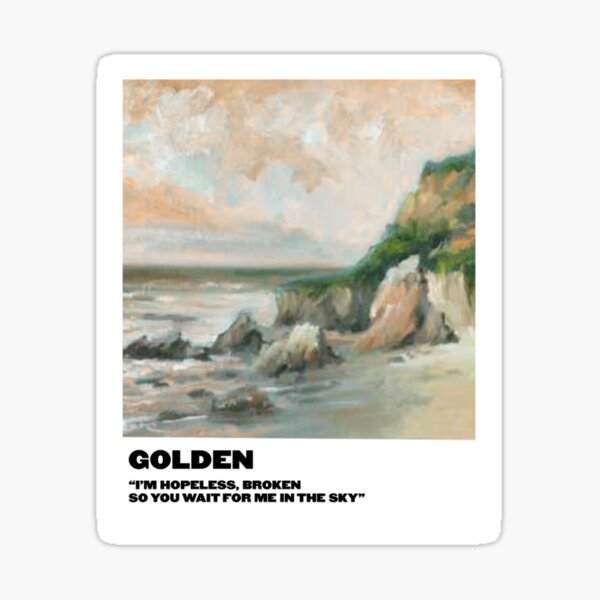 golden polaroid Sticker