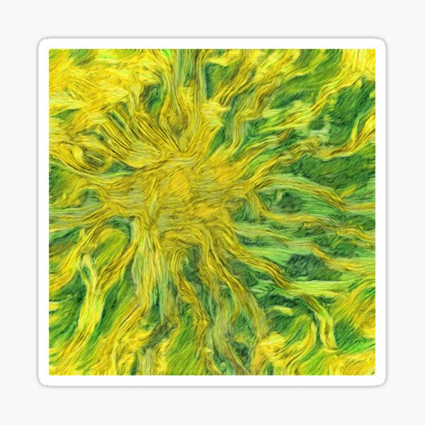 Abstraction of Sunflower Sun Sticker