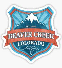 Beaver Creek Colorado teal grunge shield Sticker