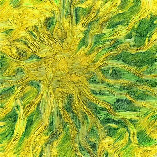 Abstraction of Sunflower Sun