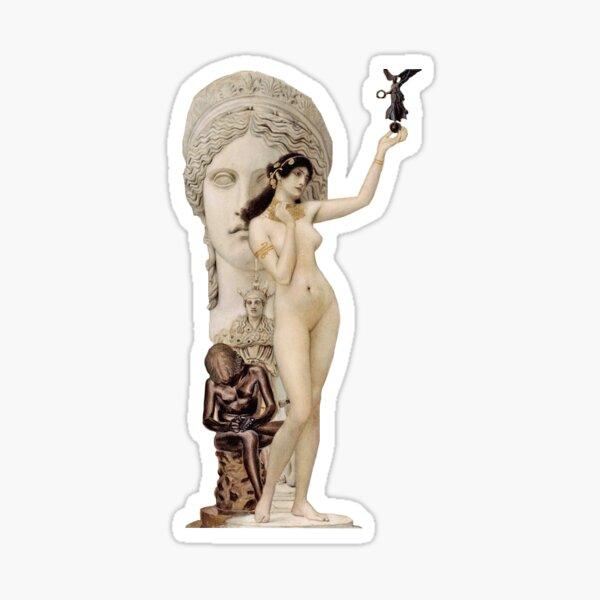 """Klimt's """"Allegory of Sculpture"""" Sticker"""