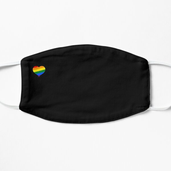 Heart Rainbow LGBT Flat Mask
