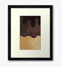 Chocolate Ice Cream Chocolate top Framed Print