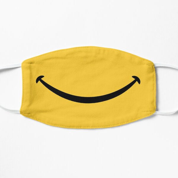 Happy Smile - Keep Smiling - Yellow Smiley Face Flat Mask