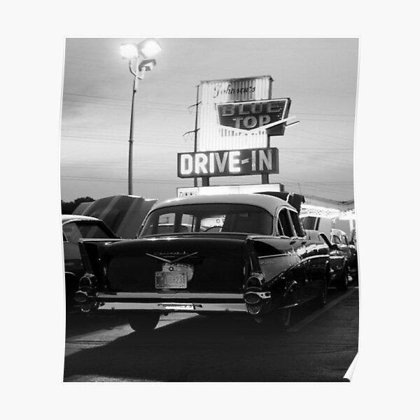 Vintage Car Black And White  Poster