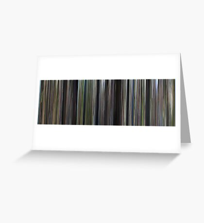 Moviebarcode: Forrest Gump (1994) Greeting Card