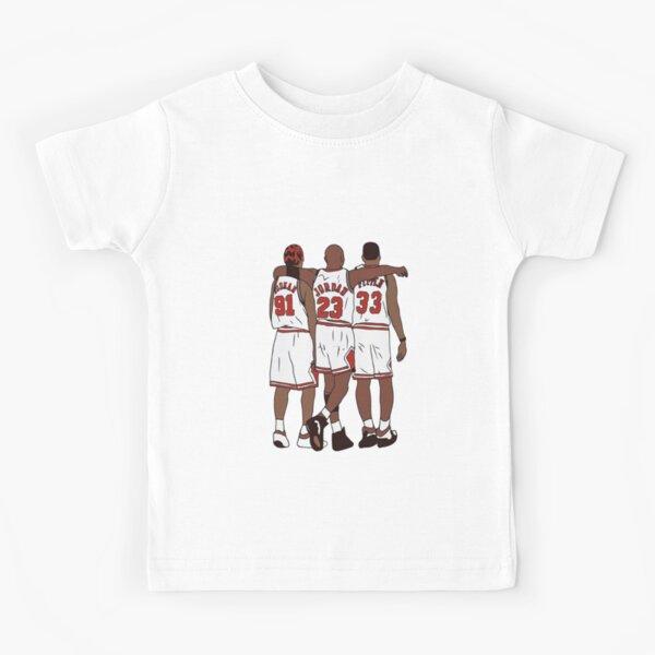 Dennis Rodman Scottie Pippen Jordan Chicago Basketball Kids T-Shirt