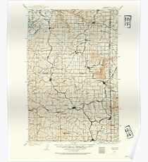 USGS Topo Map Washington State WA Oakesdale 242888 1903 125000 Poster