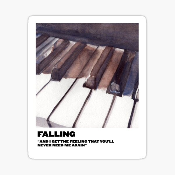 falling polaroid Sticker