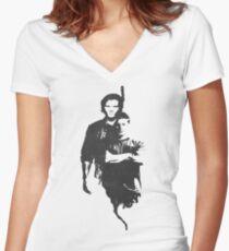 Supernatural sam/dean Women's Fitted V-Neck T-Shirt