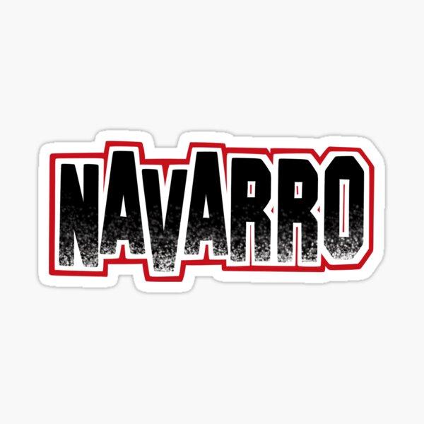 Navarro Cheer Logo - Black Glitter Sticker