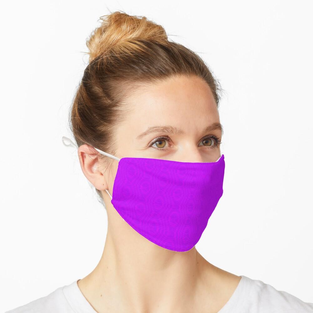 Pink Moiré Pattern Mask Mask