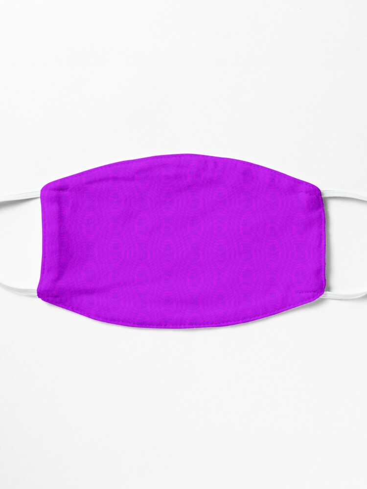 Alternate view of Pink Moiré Pattern Mask Mask