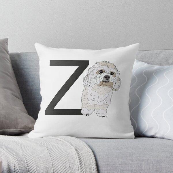 Z is for Zuchon Dog Throw Pillow