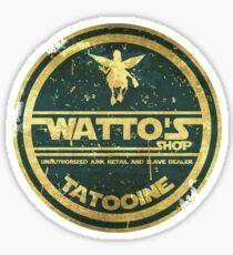 WATTO' S SHOP TATOOINE  Sticker