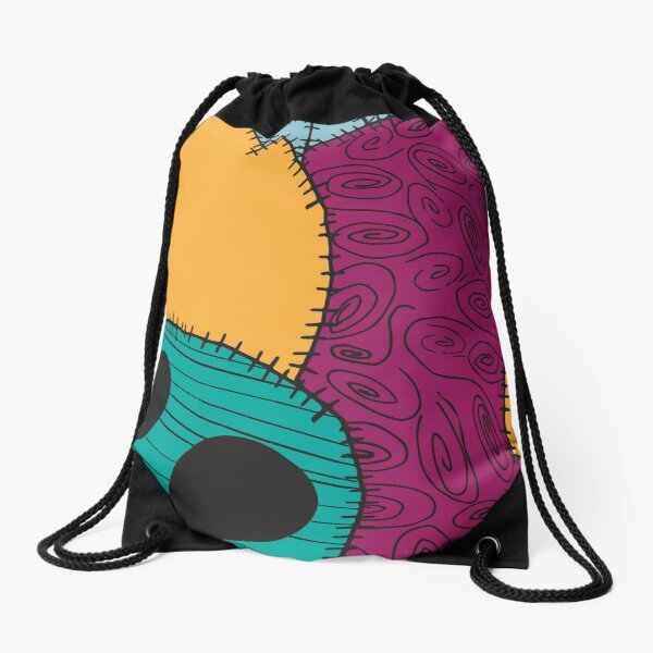 Nightmare Before Christmas Sally Pattern Drawstring Bag