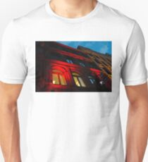 City Night Walks - the Red Facade Unisex T-Shirt