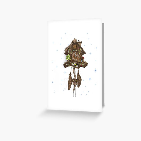 Cuckoo Clock Greeting Card