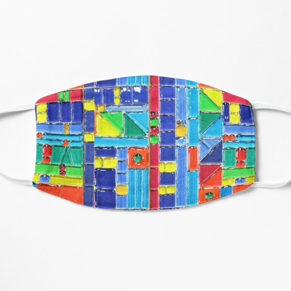 MOSAIC MULTI COLORED STRIPES  Mask