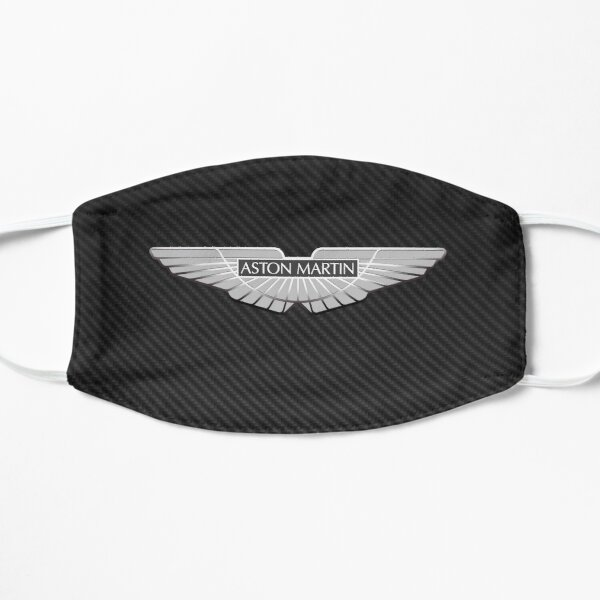 Aston Martin logo on carbon background Flat Mask
