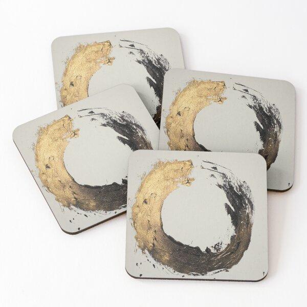 Gold Circle Coasters (Set of 4)