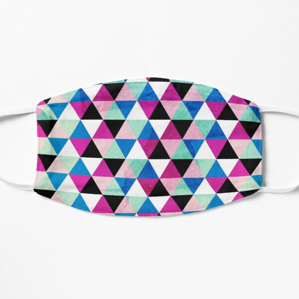 Abstract Geometric Triangles Pattern in nice Colors Mask