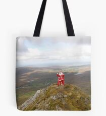 Santa on Errigal Mountain Donegal Ireland Tote Bag