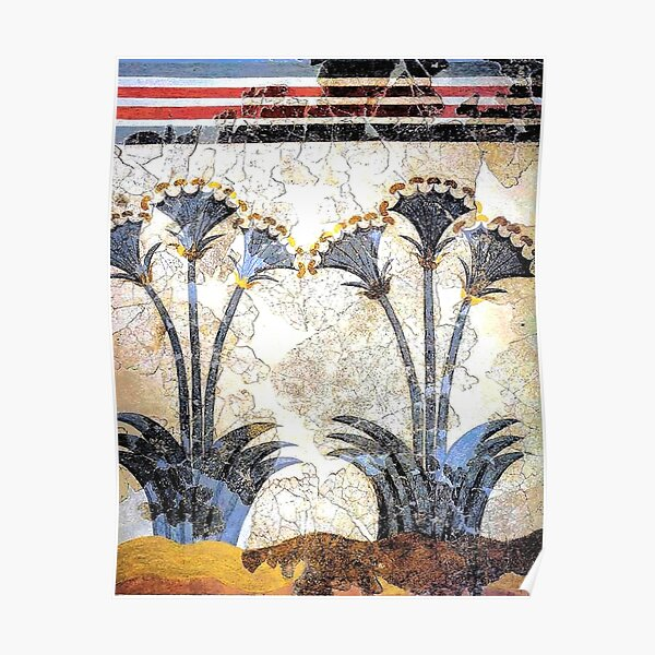 "Minoan Sea Daffodils ""Lilies"" Fresco Poster"