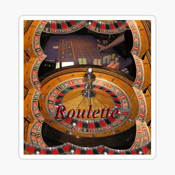 casino roulette wheel and table Sticker