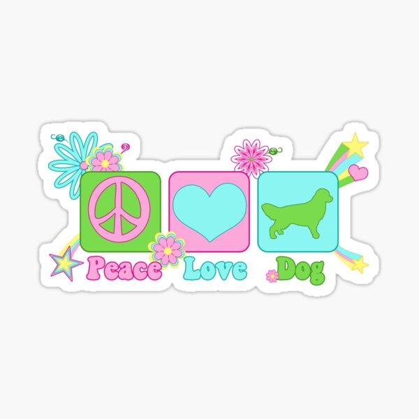 Peace, Love, Golden Retreiver Sticker