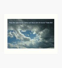 """Psalm 148:8""  by Carter L. Shepard Art Print"