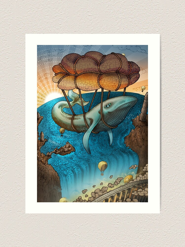 Alternate view of Flight of the Whale Art Print