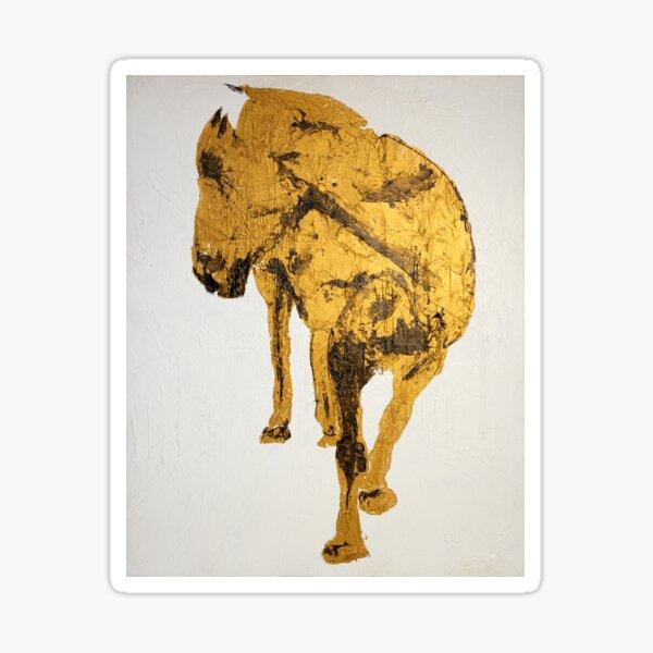 Gold Horse Sticker