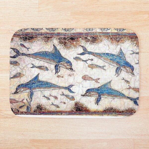 Minoan Dolphins Fresco Bath Mat