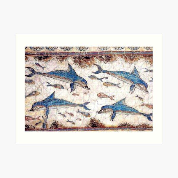 Minoan Dolphins Fresco Art Print