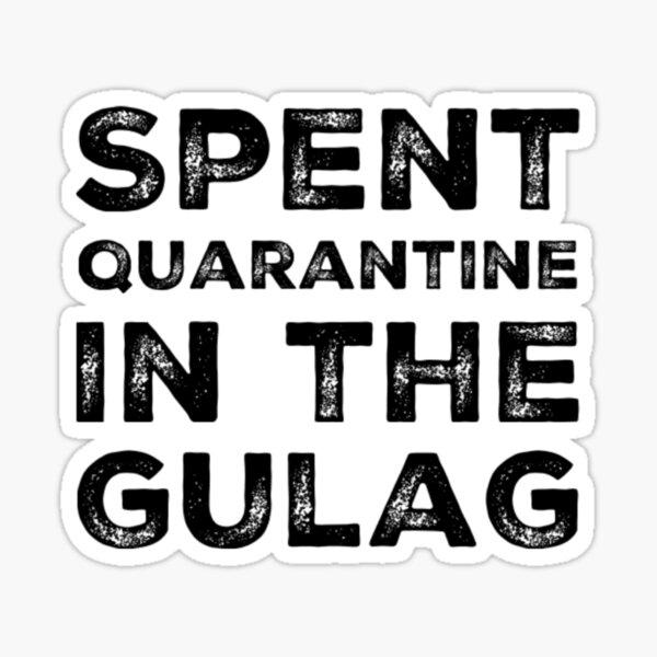 Cuarentena gastada en Gulag - Warzone Pegatina