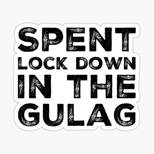Bloqueo gastado en Gulag - Warzone Pegatina