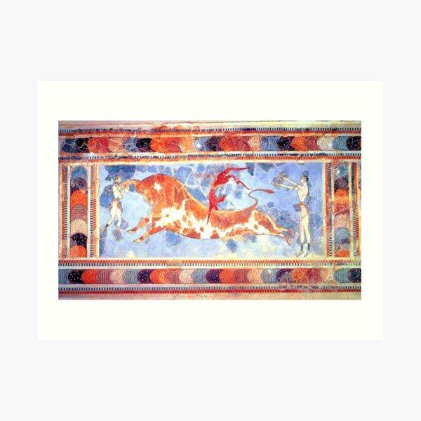 Minoan Bull Leaping Fresco Art Print