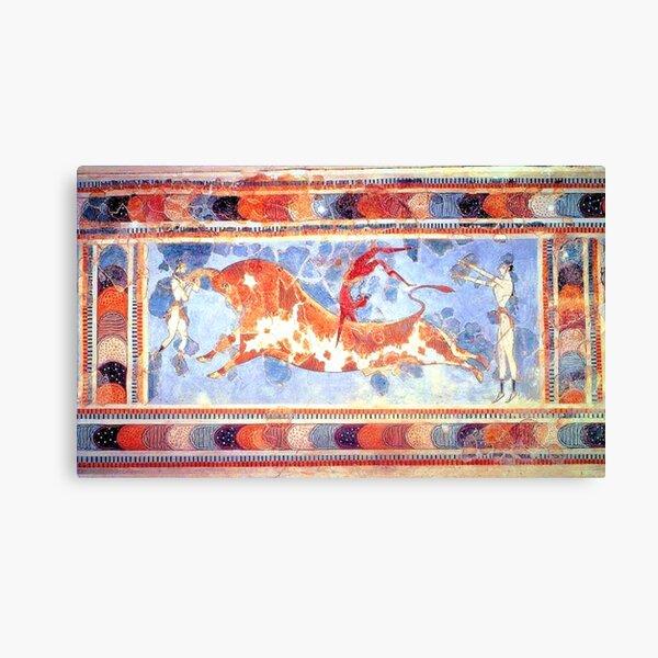 Minoan Bull Leaping Fresco Canvas Print