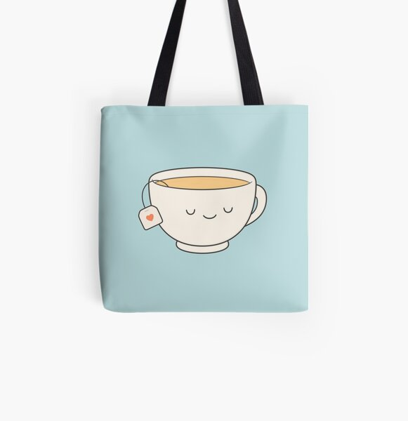 Teacup All Over Print Tote Bag
