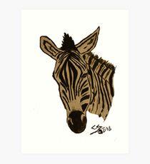 """Zebra""  by Carter L. Shepard Art Print"