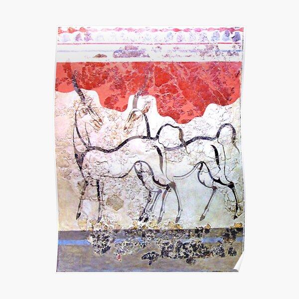 Minoan Antelope Fresco Poster