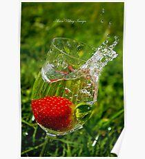Wine Glass Falling Poster