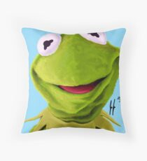 Mr. the Frog Throw Pillow