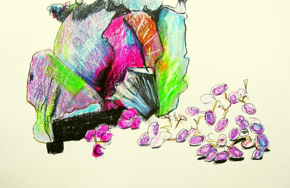 red cabbage and grapes by donna malone