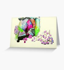 red cabbage and grapes Greeting Card