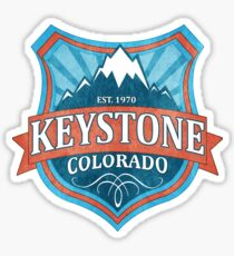 Keystone Colorado teal shield Sticker