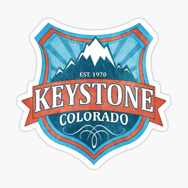 Keystone Colorado teal shield Sticker